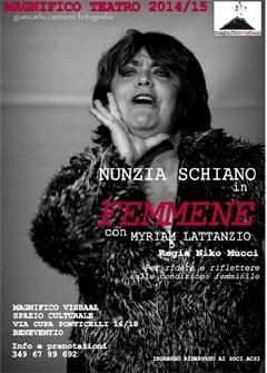"""Rassegna Magnifico Teatro: si apre stasera con """"Femmene"""""""